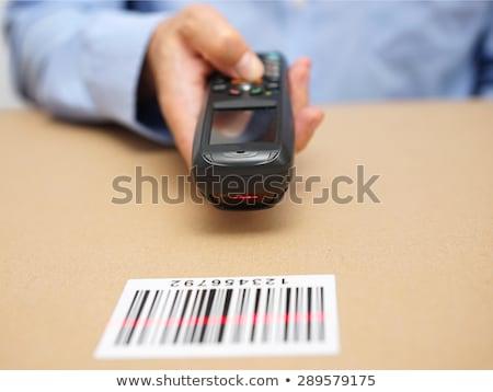 Lösung Barcode Wort Hintergrund rot schwarz Stock foto © fuzzbones0