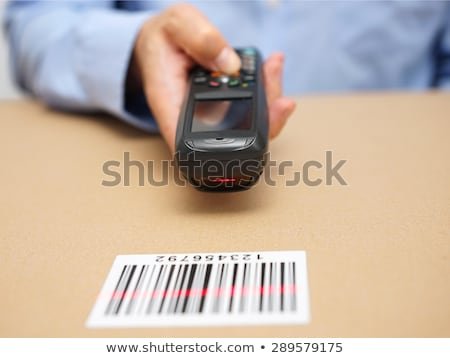 Solution Barcode mot fond rouge noir Photo stock © fuzzbones0