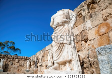 Headless Ancient Roman statue at the Ruins of Salamis. Famagusta Stock photo © Kirill_M