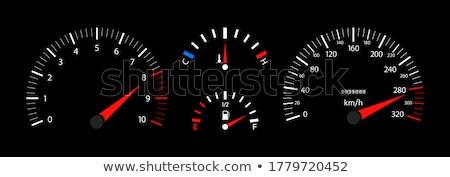 движущихся · Спортивный · автомобиль · черный · красный · скорости · темно - Сток-фото © bigalbaloo