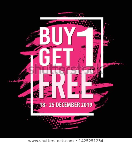 Buy 1 Get 1 Free Pink Vector Icon Stock photo © rizwanali3d