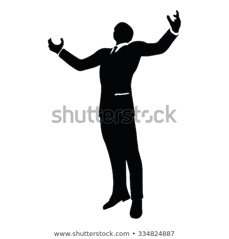 businessman silhouette in gorilla pose Stock photo © Istanbul2009