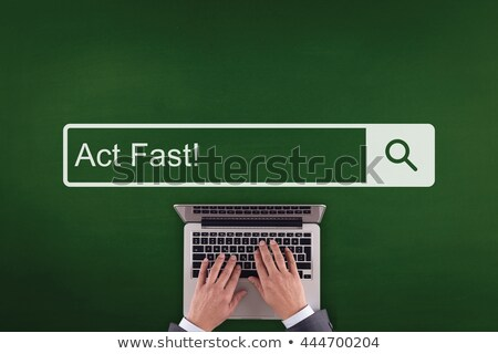 Tett gyors iroda dolgozik laptop képernyő Stock fotó © tashatuvango