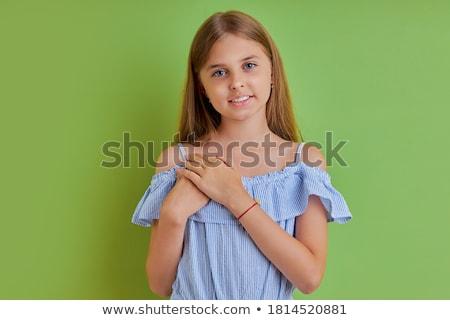 Retrato encantador menina escuro moda Foto stock © RuslanOmega