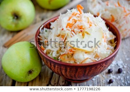 Zuurkool heerlijk salade voorjaar ui Stockfoto © zhekos