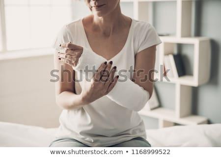 Kobieta strony szkoda biały kobiet Zdjęcia stock © wavebreak_media