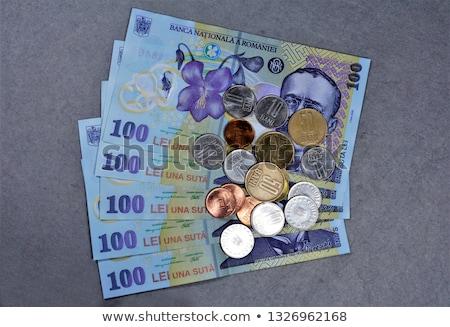 различный румынский таблице деньги бумаги Сток-фото © CaptureLight