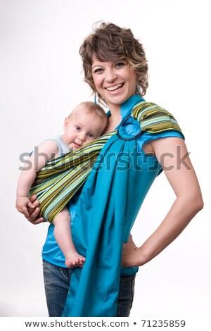 若い女性 子 スリング 赤ちゃん 屋外 母親 ストックフォト © Aikon
