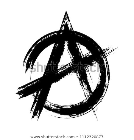 アナーキー · アナーキスト · 革命 · 政治的 · 哲学 · にログイン - ストックフォト © kk-art