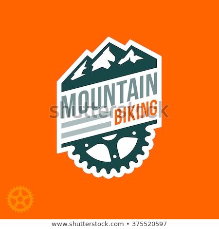 Mountain bike distintivo gráfico projeto montanha bicicleta Foto stock © mikemcd