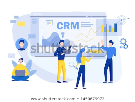 Crm プラットフォーム アイコン ビジネス 金融 グレー ストックフォト © WaD