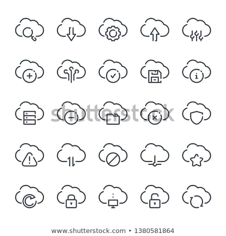 secure cloud storage icon stock photo © wad