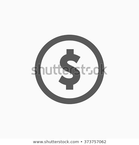 Dollárjel ikon szürke izolált fehér pénz Stock fotó © robuart
