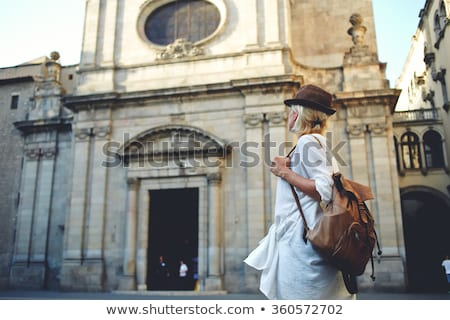 blonde young woman touring an European city Stock photo © Giulio_Fornasar