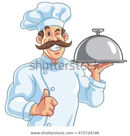 Egészséges fitt szakács adag étel mosoly Stock fotó © doddis