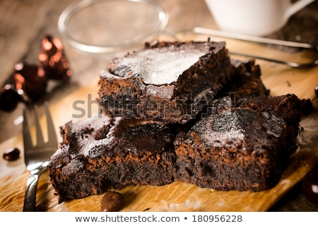 easter, egg with chocolate brownie Stock photo © M-studio