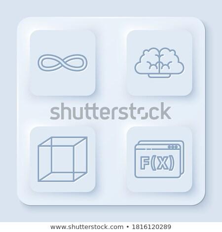 Gombok matematikai alkat színes fehér háttér Stock fotó © bluering