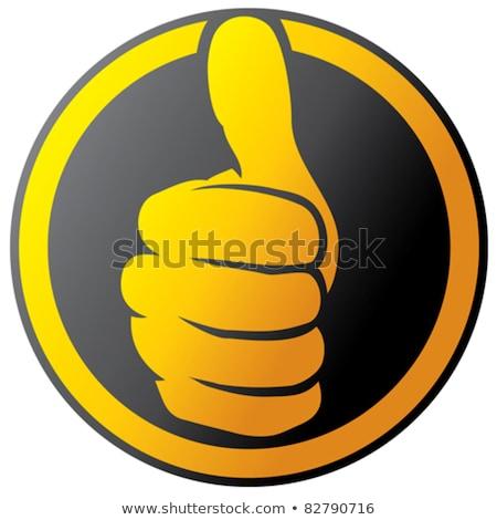 Pulsanti mani approvazione segno illustrazione Foto d'archivio © bluering