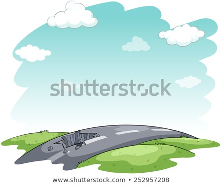 Hitting the road idiom Stock photo © bluering