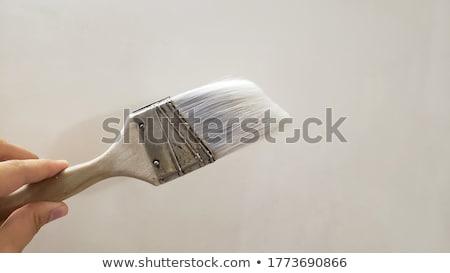Paint brush tabela mesa de madeira textura madeira trabalhar Foto stock © fuzzbones0