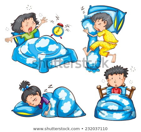 Different position and reaction of kids Stock photo © bluering