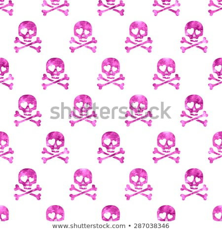 Stock photo: Skull and crossbones with mosaic pattern