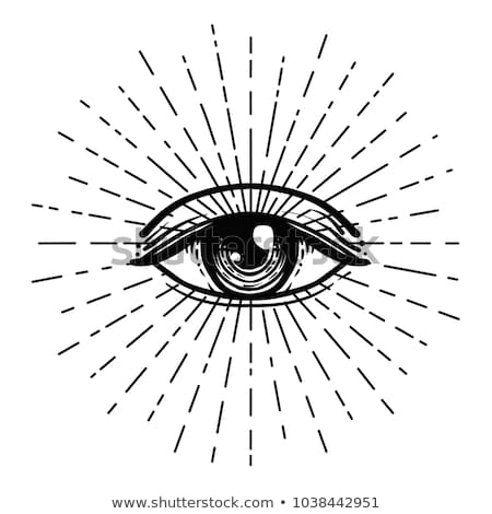 Stock photo: vector hand drawn providence eye