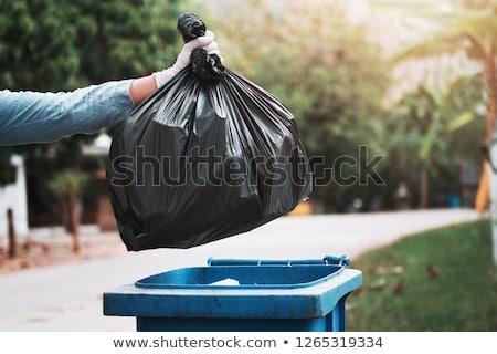 Basura bolsas pavimento ilustración paisaje calle Foto stock © bluering