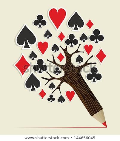 Poker lekcje szkoły rysunek kredy klasie Zdjęcia stock © romvo