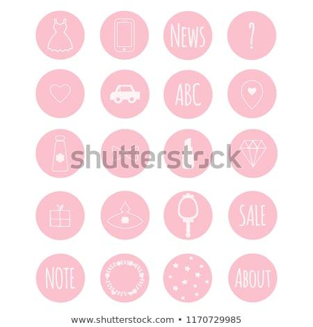 vert · téléphone · icône · élevé · résolution · blanche - photo stock © oakozhan