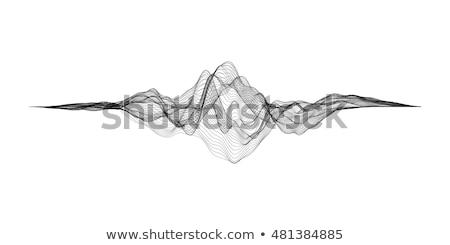 Futuristische ui vector grid digitale geluid Stockfoto © Said