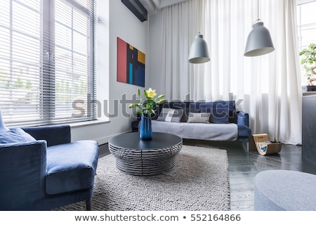 Window blinds and flowers Stock photo © SergeyAndreevich