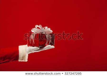 Kerstman christmas geschenkdoos boeg cartoon cute Stockfoto © vectorikart