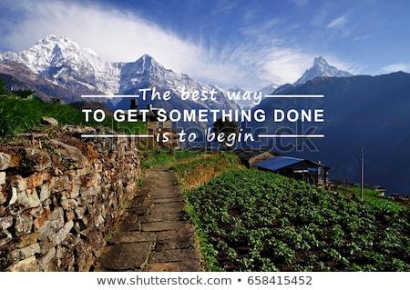 Get started business motivational message Stock photo © stevanovicigor