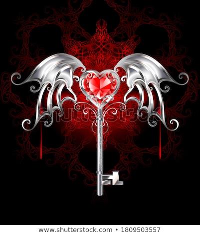 silver heart of a vampire Stock photo © blackmoon979
