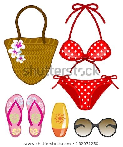 Biquíni rosa ilustração fundo arte Foto stock © bluering