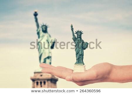 El heykel özgürlük hatıra oyuncak Stok fotoğraf © manaemedia