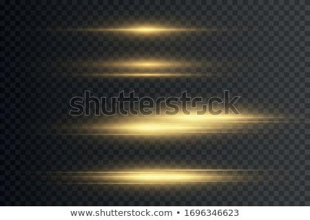 golden light streak with sparkles transparent effect Stock photo © SArts