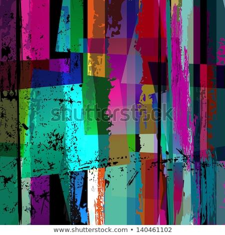 Different design of brush strokes in green Stock photo © bluering