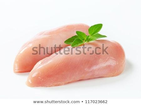 сырой куриная грудка разделочная доска куриные мяса белом фоне Сток-фото © Digifoodstock