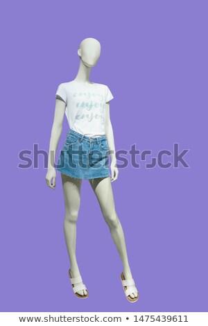 menina · preto · apertado · jeans · bolsa · isolado - foto stock © gsermek