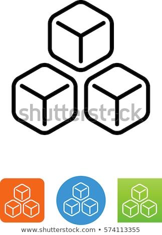 azul · ice · cube · abstrato · beber - foto stock © ordogz