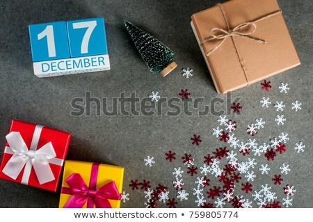Stockfoto: December · kalender · internationale · dag · einde