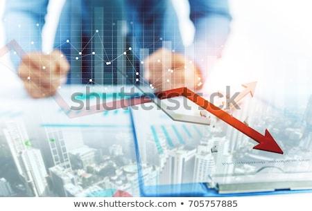 Stockfoto: Winst · verlies · business · pijl · grafiek · abstract