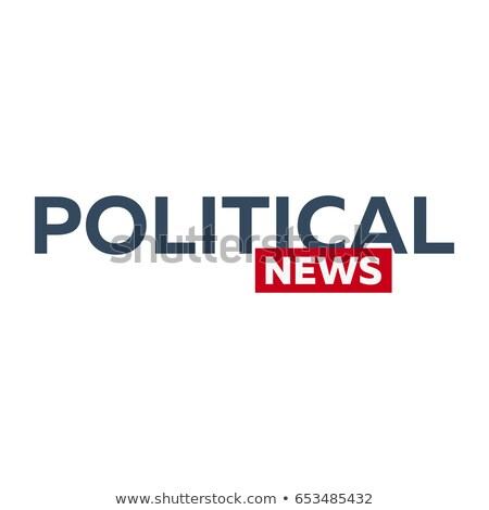 Masse médias politique nouvelles logo télévision Photo stock © Leo_Edition