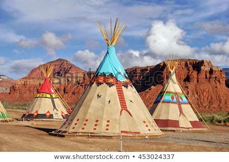 native american village stock photo © stocksnapper