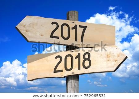 2017 and 2018 crossroad sign stock photo © stevanovicigor