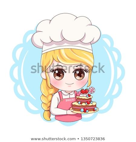 Cartoon Baker or Pastry Chef Stock photo © Krisdog