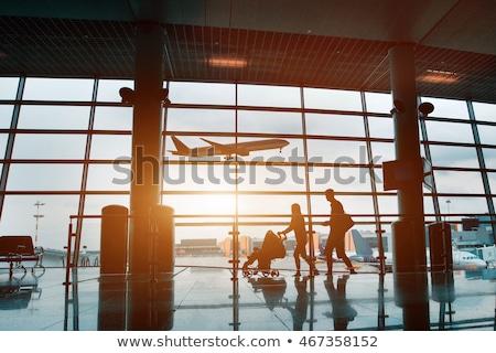 aeronaves · cielo · azul · cielo · viaje · avión · volar - foto stock © ssuaphoto
