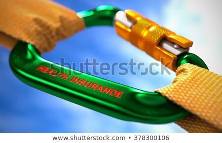 Egészségbiztosítás zöld narancs kötelek égbolt szelektív fókusz Stock fotó © tashatuvango